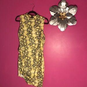 1X snakeprint dress from Fashion Nova
